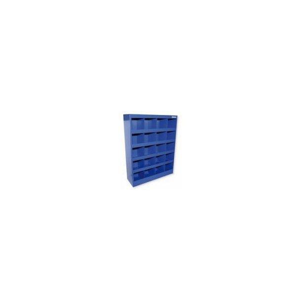 Boltreol 20 rums, pulverlakkeret blå. KOMPLET med bolte og møtrikker